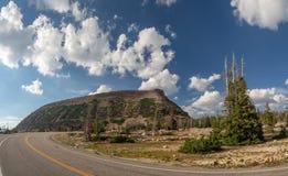 Национальный лес Uinta-Уосат-тайника, озеро зеркал, Юта, Соединенные Штаты, Америка, около озера предкрылк и Park City стоковые изображения rf