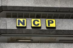 Национальный логотип автостоянок стоковая фотография