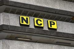 Национальный логотип автостоянок стоковые изображения rf