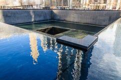 Национальный мемориал 11-ое сентября, Нью-Йорк стоковое изображение