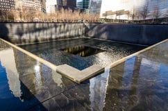 Национальный мемориал 11-ое сентября, Нью-Йорк стоковые изображения rf