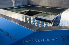 Национальный мемориал 11-ое сентября, Нью-Йорк стоковая фотография