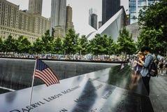 Национальный мемориал 11-ое сентября, Нью-Йорк Стоковые Фотографии RF