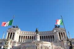 Национальный монумент Виктора Emmanuel II Monumento Nazionale Vittorio Emanuele II также известное как алтар отечества Altare стоковая фотография rf
