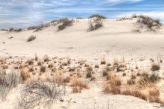 Национальный монумент песков белизны расположен в Неш-Мексико и дальше стоковая фотография rf