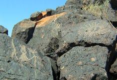 Национальный монумент петроглифа в Неш-Мексико стоковое изображение rf