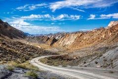 Национальный монумент Юта Canyon Road хлопока стоковая фотография rf