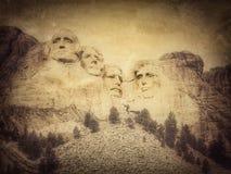 Национальный монумент Mount Rushmore, Южная Дакота, Соединенные Штаты, версия grunge моего фото стоковое фото