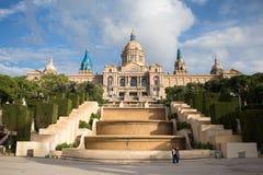 Национальный музей изобразительных искусств Каталонии стоковые фотографии rf