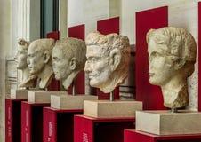Национальный музей - старые римские бюсты Стоковое фото RF