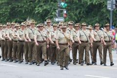 Национальный парад Дня памяти погибших в войнах стоковые фото