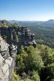 Национальный парк Богемия Switserland Pravcicka Brana стоковые изображения rf