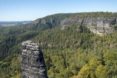 Национальный парк Богемия Switserland Pravcicka Brana стоковые изображения