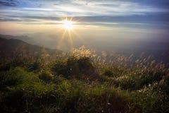 Национальный парк гор Wugong в заходе солнца Стоковые Изображения RF