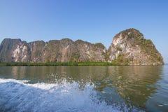 Национальный парк залива Phang Nga перемещения, Phang Nga Таиланд стоковые фотографии rf