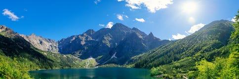 Национальный парк Перемещение в горах Глаз моря Tatra Стоковое Изображение