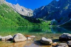 Национальный парк Перемещение в горах Глаз моря Tatra Стоковая Фотография RF