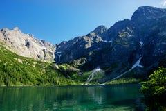 Национальный парк Перемещение в горах Глаз моря Tatra Стоковые Изображения RF