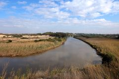Национальный парк реки Sorek в Израиле Стоковые Фото