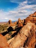 Национальный парк сводов, сценарный ландшафт пустыни, Юта США Стоковое фото RF