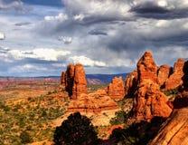 Национальный парк сводов, сценарный ландшафт пустыни, Юта США Стоковые Фотографии RF