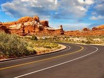 Национальный парк сводов, сценарный ландшафт пустыни, Юта США Стоковое Изображение RF