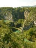 Национальный парк Хорватия озер Plitvice, красивый парк ландшафта Стоковые Изображения RF