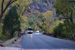 Национальный парк Юта Сион, Соединенные Штаты стоковое изображение rf
