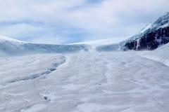 национальный парк яшмы ледника athabasca стоковое изображение