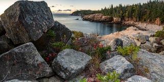 Национальный парк Acadia в осени стоковые фото