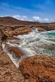 Национальный парк Arikok на Аруба - Вест-Инди стоковое фото