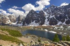 Национальный парк Banff озера Eiffel Стоковые Фотографии RF
