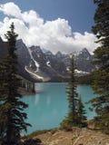 Национальный парк Banff - озеро морен - Канада Стоковое Изображение RF