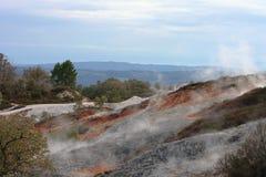 Национальный парк Biancane в Monterotondo Стоковые Фотографии RF