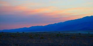 Национальный парк Death Valley на заходе солнца стоковая фотография