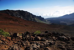 национальный парк haleakala кратеров Стоковые Фотографии RF
