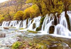 Национальный парк Jiuzhaigou, Китай стоковые фотографии rf