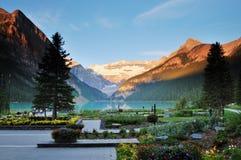 национальный парк louise озера banff Стоковая Фотография