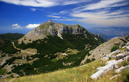 Национальный парк Lovcen, Черногори Стоковое Изображение