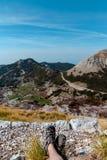 Национальный парк Lovchen Взгляд от горы стоковое изображение rf