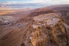 Национальный парк Masada в области мертвого моря Израиля стоковое фото