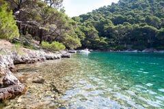 национальный парк mljet озера острова малый стоковая фотография rf