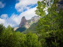 Национальный парк Ordesa, Pyrinees Испания стоковое изображение rf