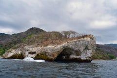 Национальный парк Vallarta сводов под водой или парк Las Peñas Лос Arcos морской или утесы, с большим разнообразием includi морс Стоковые Фотографии RF