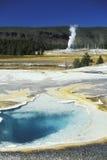 национальный парк yellowstone гейзера стоковое изображение