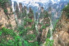 национальный парк zhangjiajie держателя hallelujah воплощения стоковые фотографии rf