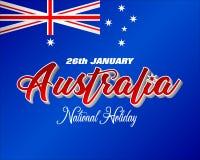 Национальный праздник Австралии, торжество иллюстрация штока