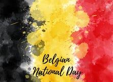 Национальный праздник Бельгии иллюстрация вектора