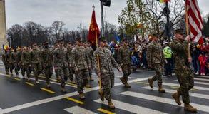 Национальный праздник Румынии, 1-ое декабря 2017 стоковые фотографии rf