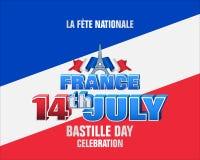 Национальный праздник Франции, день Бастилии Стоковые Изображения